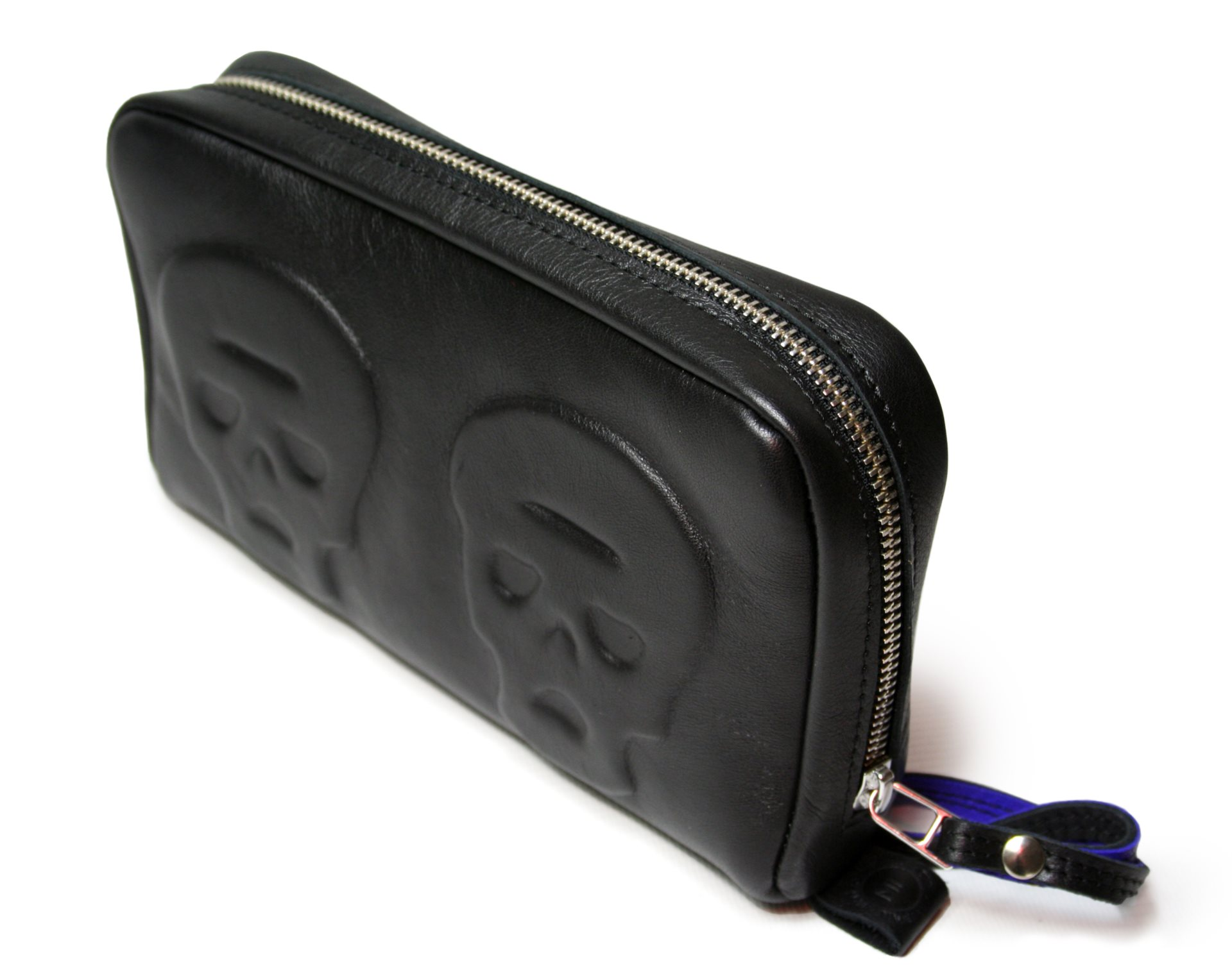 Skull Profiled Zip Clutch