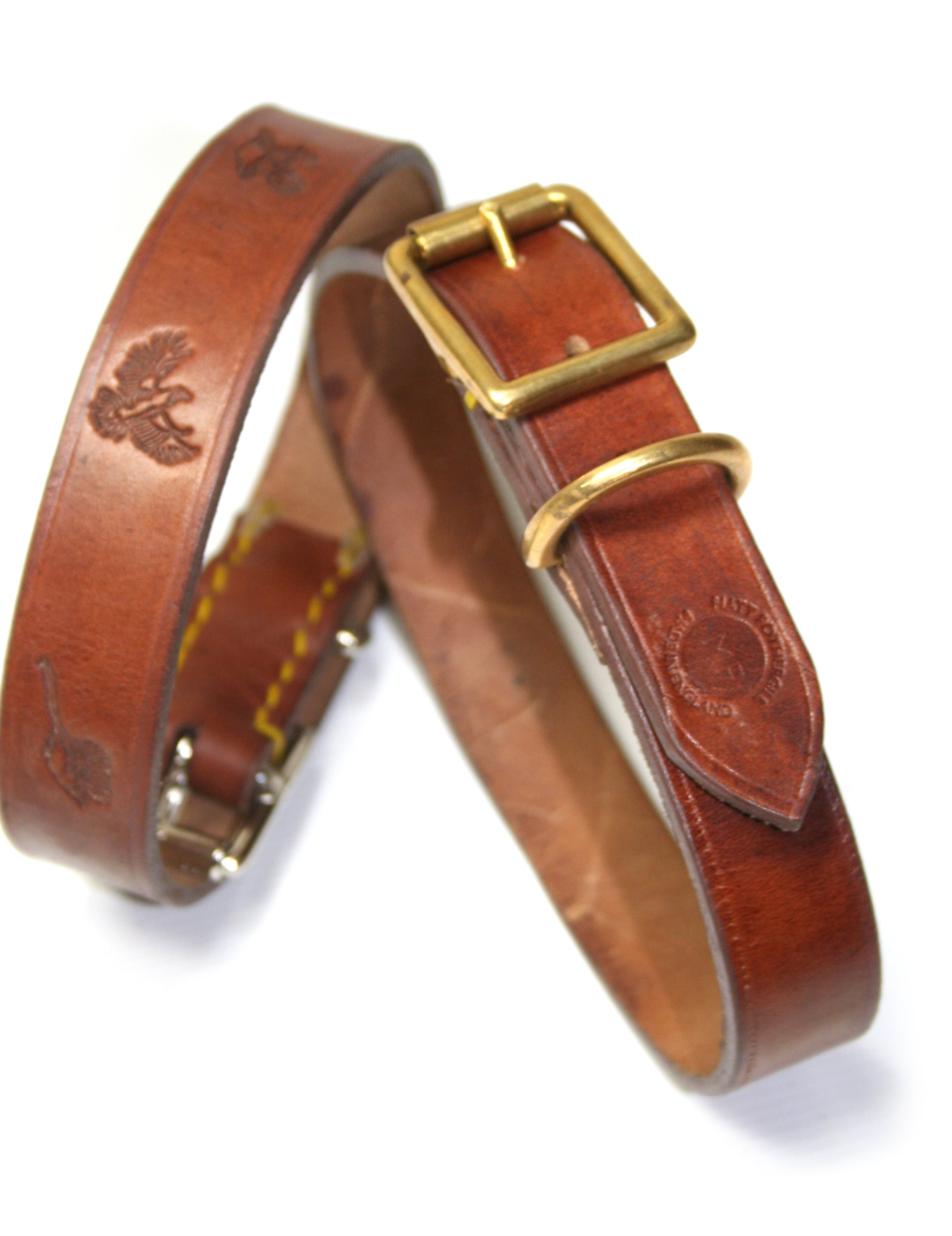 Oak Bark Hand Stitched Dog Collar