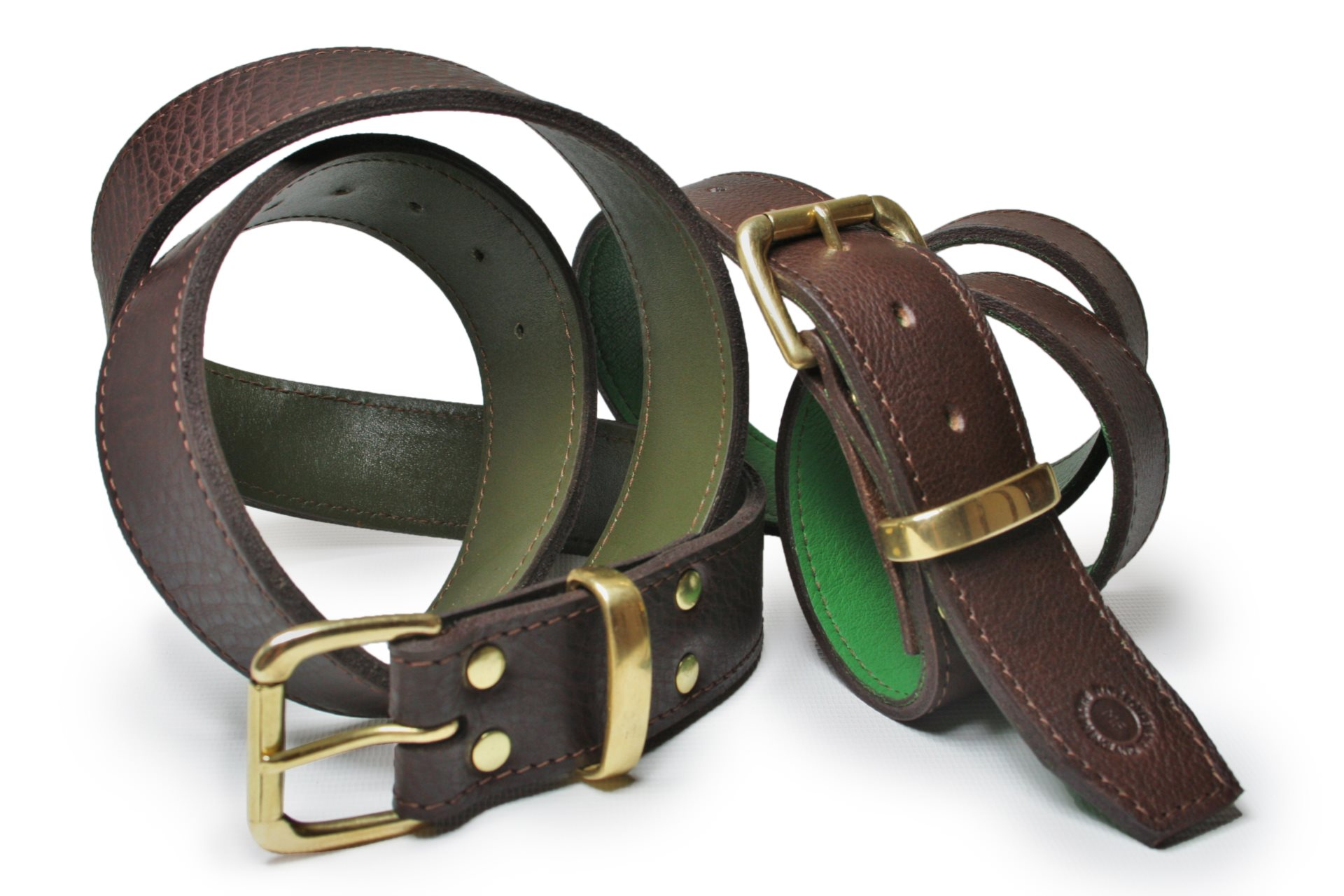 "Lined 1.5"" Single Roller Buckled Belt"