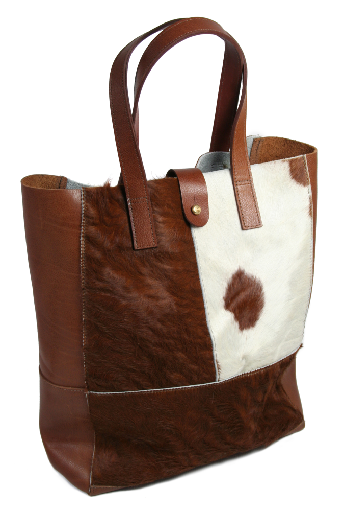 Patchwork Cow Hair Tote