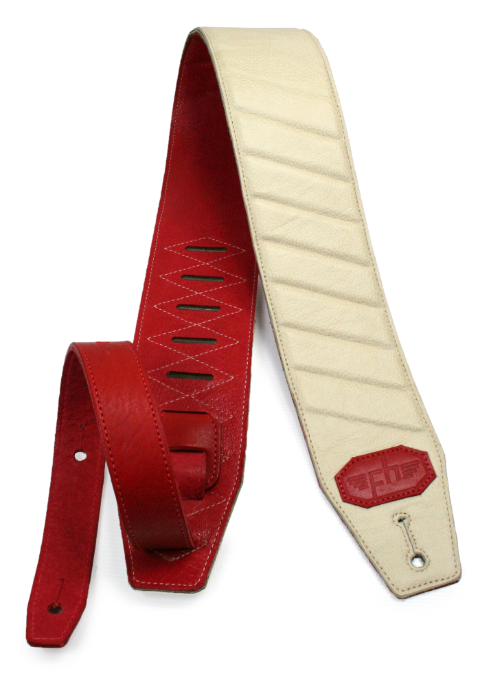 White And Red Profile Strap