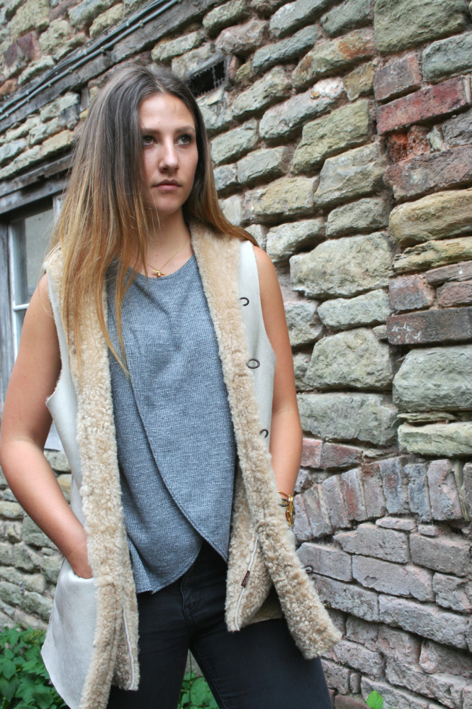 Corve Lamskin Gilet with Pockets