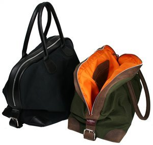 Canvas & Leather Corner Kitbags
